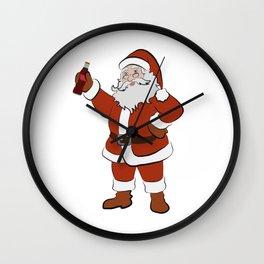 Santa's Drink Wall Clock
