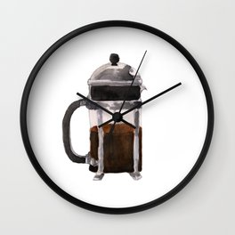 French Press - Brown Wall Clock