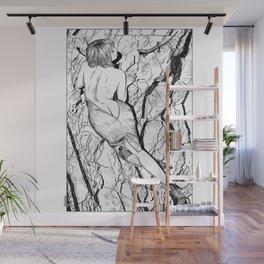 asc 347 - La fille mordue par un lézard (Girl bitten by a lizard) Wall Mural