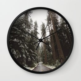 Redwood Forest Adventure II - Nature Photography Wall Clock