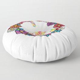 LGBT Peace Sign Floor Pillow
