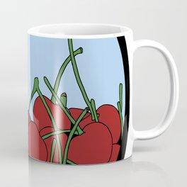 Cherries in a Bowl (Black Ring) Coffee Mug