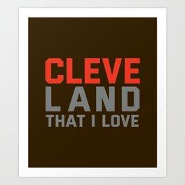 Cleveland That I love Art Print