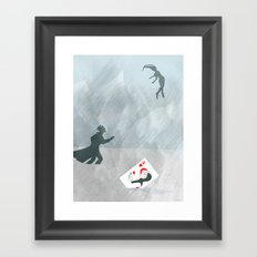 Now, that's cold! Framed Art Print