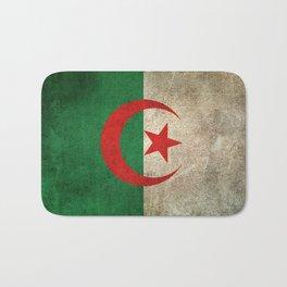 Old and Worn Distressed Vintage Flag of Algeria Bath Mat