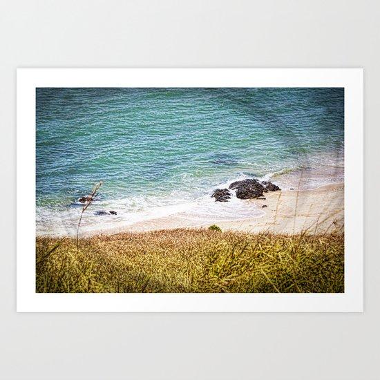 Rocks and Ocean View Art Print