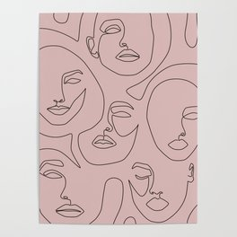 Blush Faces Poster