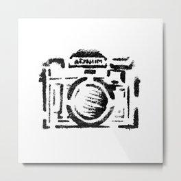 Graffitti Stencil Camera Metal Print