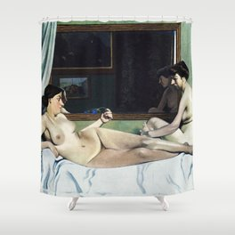 Felix Vallotton -  The Models' Rest (new color editing) Shower Curtain
