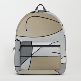 ABSTRACT CURVES #1 (Grays & Beiges) Backpack