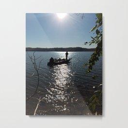 Fishing for bass Metal Print