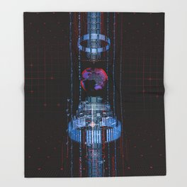 Virtual Data Earth Throw Blanket