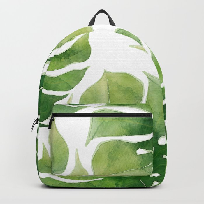 Monstera watercolor I Backpack