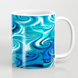 Awesome Lushness Pattern (blue and white) Coffee Mug