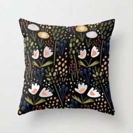 Little Flowers Throw Pillow