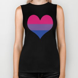 Bisexual Heart Biker Tank