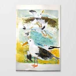 Seagulls Narrative Canvas Print