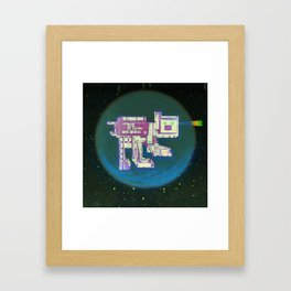 Spatial Bot Dog Framed Art Print