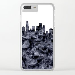 Los Angeles Skyline California Clear iPhone Case