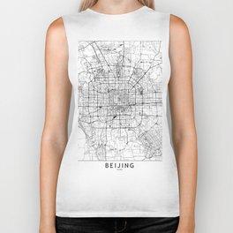 Beijing White Map Biker Tank