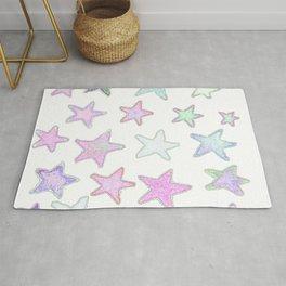 Funky Pastel Stars! Rug