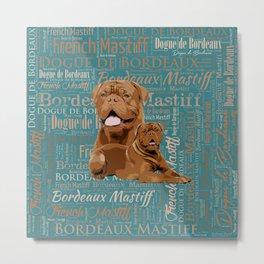 Dogue de Bordeaux Digital Art Metal Print