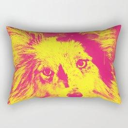 border collie dog 5 portrait wsyp Rectangular Pillow
