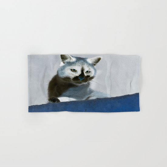 Blue Snow Shoe Cat on the Prowl Hand & Bath Towel