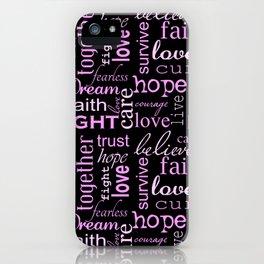 Breast Cancer - Black iPhone Case
