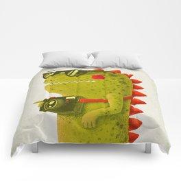 Dino touristo (olive) Comforters