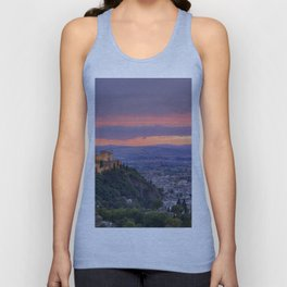 The alhambra and Granada city at sunset Unisex Tank Top