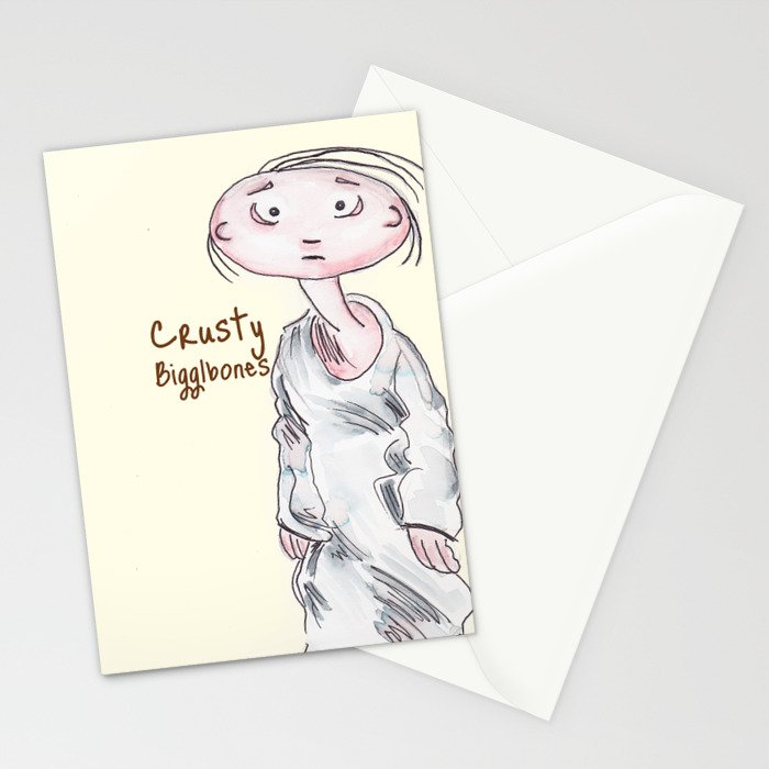 Crusty Bigglebones Stationery Cards
