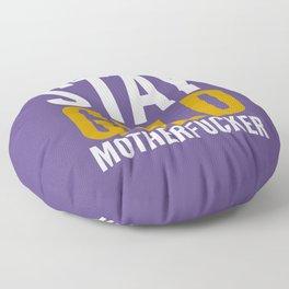 Stay Gold Motherfucker (Ultra Violet) Floor Pillow
