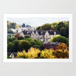 Autumn in West Yorkshire Art Print
