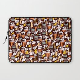 Beer Pattern | Oktoberfest Hops Malt Brewery Laptop Sleeve