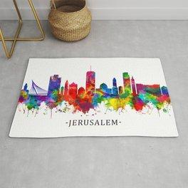 Jerusalem Israel Skyline Rug
