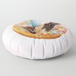 Dog Party Donut Floor Pillow