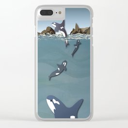 Whale Dance Clear iPhone Case