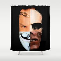 vendetta Shower Curtains featuring Hugo Weaving: King of the Nerds by IndifferentArts