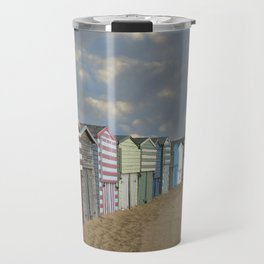 Beach Huts Travel Mug