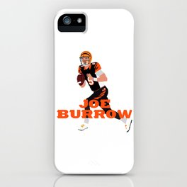 Joe Burrow #1 Pick Art iPhone Case