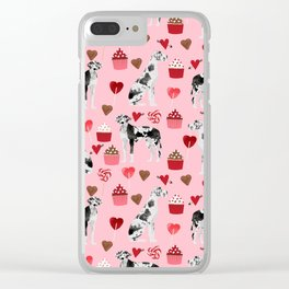 Great Dane harlequin coat dog breed gifts pet patterns for pure breed lovers Clear iPhone Case