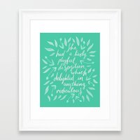pride and prejudice Framed Art Prints featuring Pride and Prejudice by IndigoEleven