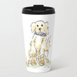 Preppy & Plaid Retriever Travel Mug