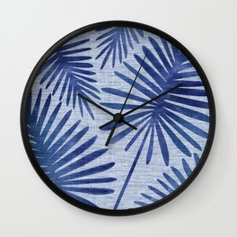 Mid Century Meets Mediterranean - Tropical Print Wall Clock
