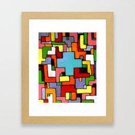 Grüne Kreuz Framed Art Print