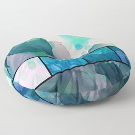 Abstract Roses Floor Pillow