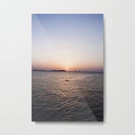 An Ibiza Sunset Metal Print