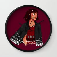 archer Wall Clocks featuring Archer by shirley