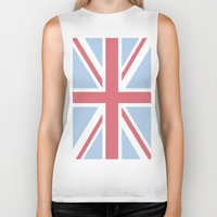 union jack Biker Tanks featuring Union Jack by Alesia D